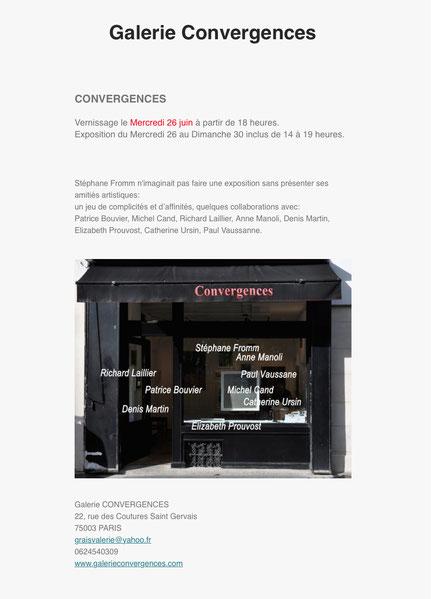 Galerie Convergences Stéphane Fromm  Prouvost Elizabeth Photographe