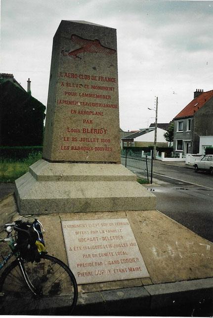 So sah ich das Denkmal an den Flugpionier im Jahre 1994