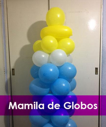 como hacer una mamila con globos
