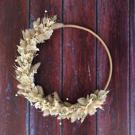 couronne fleurs séchées - Histoires Botaniques