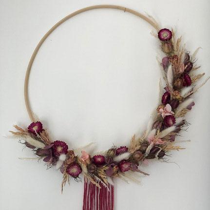 grande couronne fleurs séchées - Histoires Botaniques
