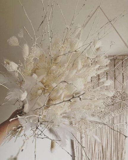 Bouquet fleurs séchées - Blanc Noël - Histoires Botaniques