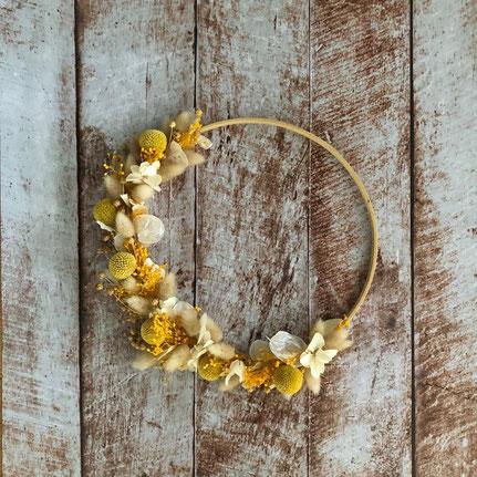 couronne de fleurs séchées - Histoires Botaniques