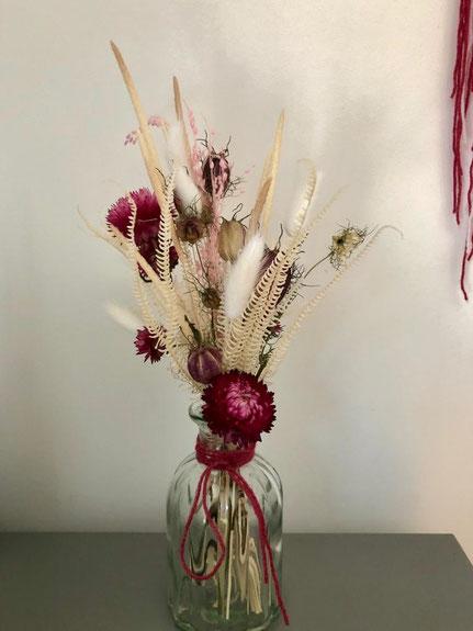 fiole de fleurs séchées - Histoires Botaniques