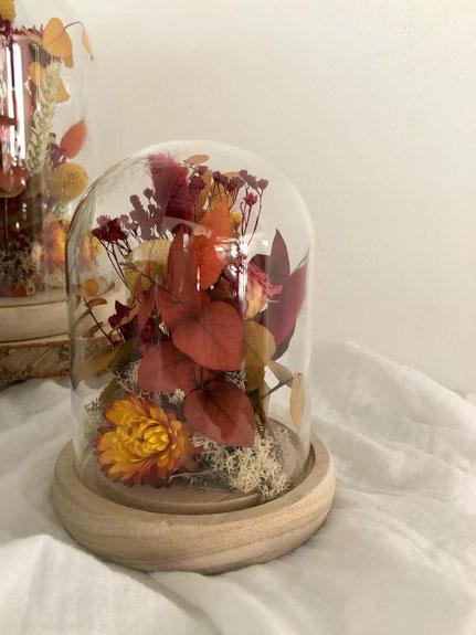 Cloche fleurie Automne - fleurs séchées - Histoires Botaniques
