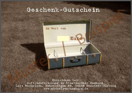 Ahnenforscher Hamburg Gutschein