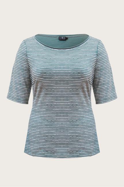Fair hergestelltes gestreiftes Shirt in Großer Größe