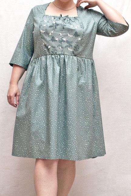 Fair hergestelltes Babydoll Kleid in grosser Größe aus Biobaumwolle
