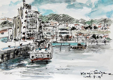 神奈川県・真鶴漁港の船
