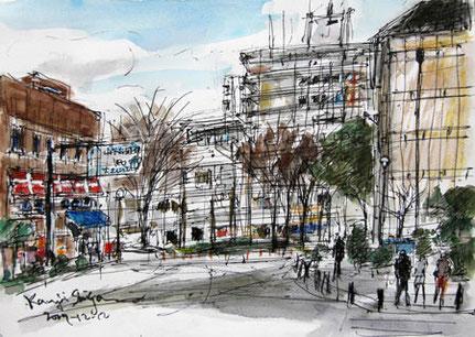 横浜市・シルクセンタービルとその周辺のレストラン街