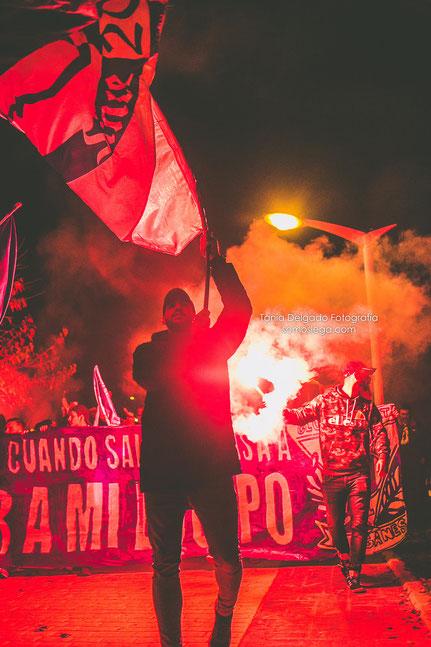 corteo, ultras, hooligans, pyro, bengalas, leganes, pepinero, la liga, fotografia deportiva