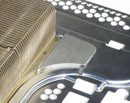 Abdeckung der Vertiefung zwischen Lüfterrad und Kühlkörper