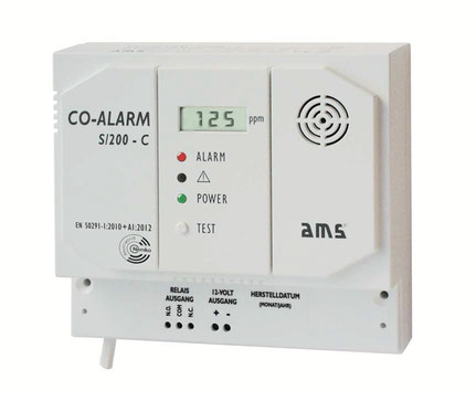 Technische Unterlagen Kohlenmonoxidmelder