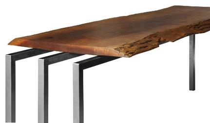 Edeltahltische mit Holz oder Kunstharzplatten.....