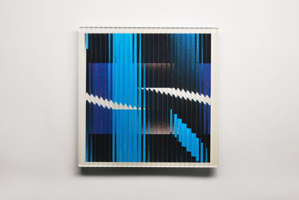 Sky | cut, ground, printed, glued, hand polished glass | 30 x 30 cm | 2016 | ●