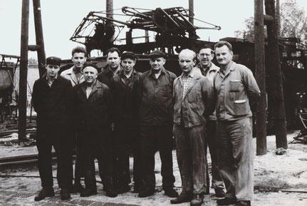 Belegschaft 1964 Mechanische Werkstatt Laubusch