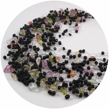 Necklace, Jewelry, Bead Crochet Necklace, Beadwork Necklace, Handmade, ukrainian jewelry, Beaded Necklaces, Air necklace, multistrand necklace, воздушное ожерелье, вязаное ожерелье, воздушка
