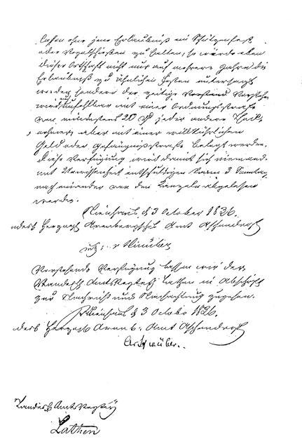 Dokument aus 1836 - Seite 2