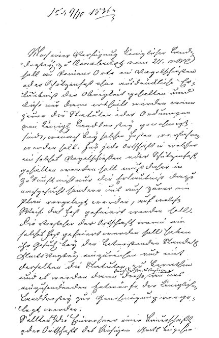 Dokument aus 1836 - Seite 1