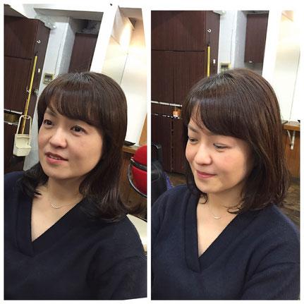 横浜・美容室☆デジパーもカット次第で何か月も楽しめる髪型に!!