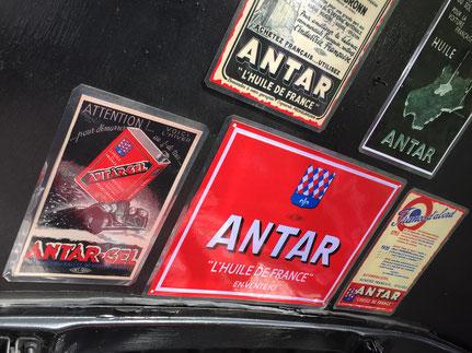 ANTAR affiche publicité huiles