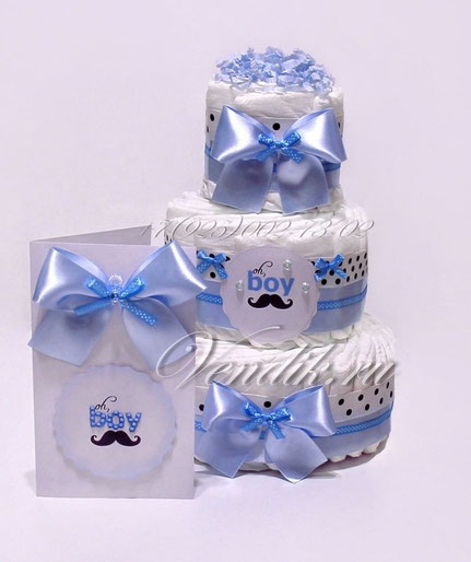 Подарок из памперсов для новорожденного мальчика