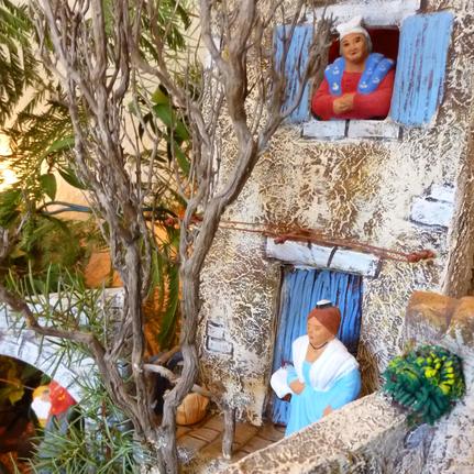 Village provençale, santons et scène de vie - Paul Garrel