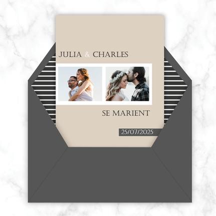 Faire-part mariage gif animé-faire-part mariage virtuel- faire part mariage digital-faire-part mariage numérique animé-électronique-à envoyer via les réseaux sociaux-whatsapp-facebook-messenger-mms-photos et polaroid -kraft