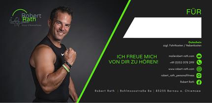 Geschenk Gutschein Robert Rath Training Sport Fitness Personal Rosenheim Chiemsee Geschenk Geburtstag Weihnachten