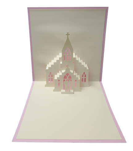 Carte Kirigami Baptême - Faire part Baptême - Carte Pop-Up Baptême