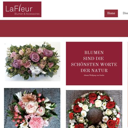 Druckatelier46 - Webdesign La Fleur - Blumen und Accessoires