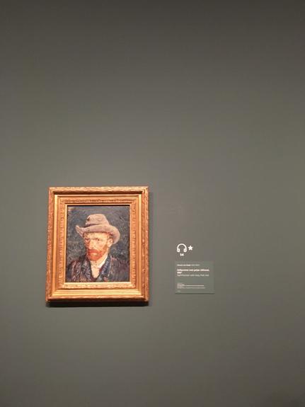 Vincent Van Gogh's zelfportret met grijze vilthoed uit 1887