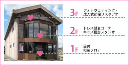 美濃加茂市にある3階建てのフォトスタジオ「ブライダルサカエ」
