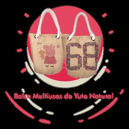 Bolsa Multiusos de Yute Natural