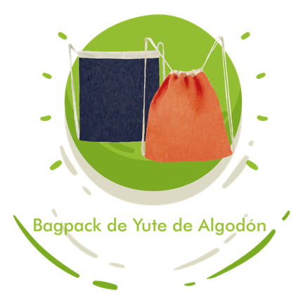 Bagpack de Yute de Algodón