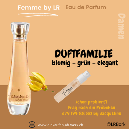 Duftprobe LR Damenparfüm Femme Noblesse