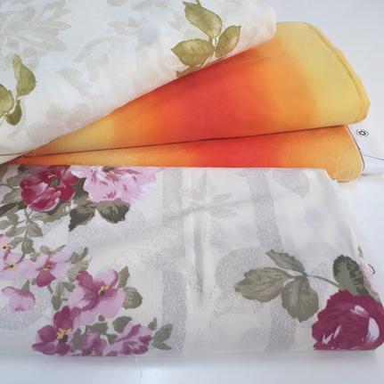 Bettwäsche in verschiedenen Farben und Motiven für Upcycling Bekleidung