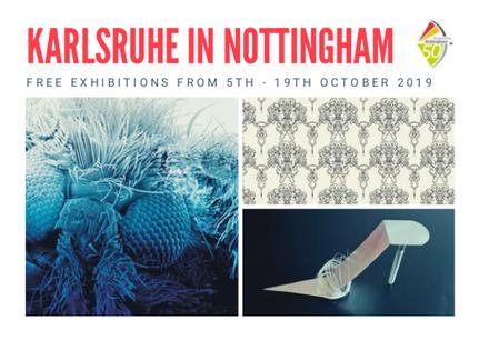 Einladungskarte Karlsruhe in Nottingham: IN FOCUS und CINDERELLA'S DELIGHT