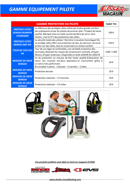 GAMME EQUIPEMENT & PROTECTION PILOTE