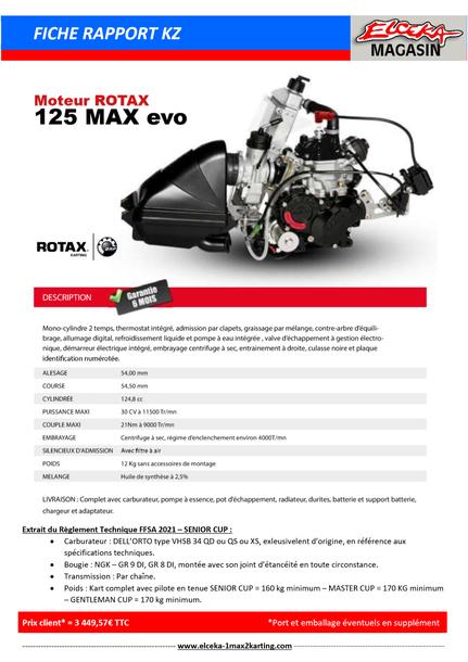 TARIF ROTAX 2021 - MOTEUR MAX EVO