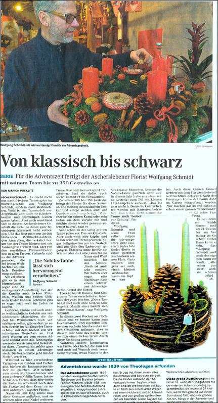 unser Blumenladen im Spiegel der Presse