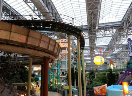 Vergnügungspark in der Mall of America in Minneapolis, MN