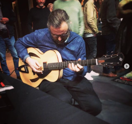 "Jens Larsen playing a Heeres Guitars 16"" Montreux Model archtop"