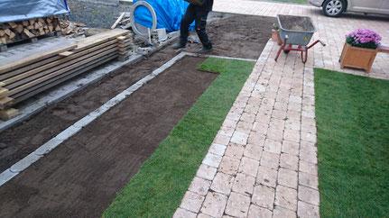 Der perfekte Rasen - Rollrasen wird verlegt