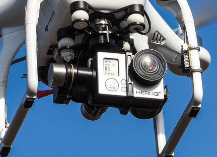 3-Achs-Gimbal der GoPro am DJI Phantom
