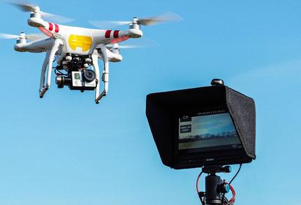 Videodownlink vom Kopter zum Monitor am Boden