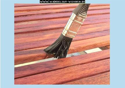 Die Holzmaserung Betonen Und Holz Farben Mit Lasur Wandelbar Wohnen