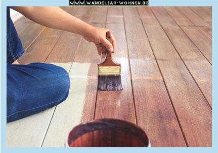 Fußboden Dielen Weiß Streichen ~ Fußboden streichen mit kreidefarbe wandelbar wohnen