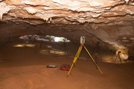 Inside cave excavation on Barrow Island.  Photograph credit University of Western Australia.
