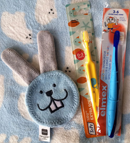 Quellen: © MAM Oral Care Rabbit ; TePe; elmex